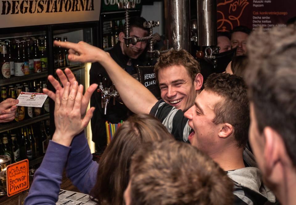 Darmowe piwo zawsze cieszy :)
